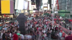 Crowded times square night life 4k time lapse from ny usa Stock Footage
