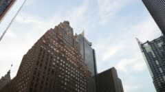 Sunny sky manhattan buildings 4k time lapse from new york Stock Footage
