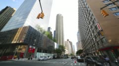 Sunny day manhattan street 4k time lapse from new york Stock Footage