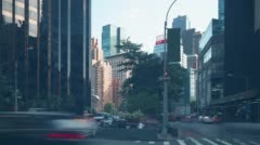 Manhattan traffic street near columbus circle 4k time lapse from ny Stock Footage