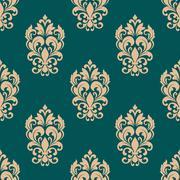 Stock Illustration of foliage victorian seamless pattern design