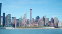432 park avenue building construction day time 4k time lapse from new york Stock Footage