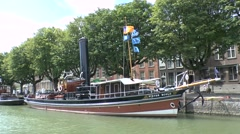 The Pieter Boele moored in Dordrecht, South Holland, Netherlands. Stock Footage