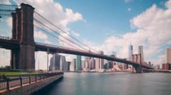 Stock Video Footage of brooklyn bridge park bay 4k time lapse from new york