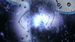 Clock, Time Travel Concept Background Stock Footage