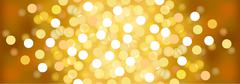Yellow sunny festive lights. Vector  background. - stock illustration