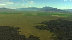 Aerial Idaho USA lava field nature magma grassland - stock footage