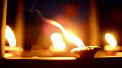 Small Candle Stock Footage