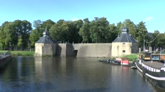 The Spanjaardsgat (water gate) on the Nieuwe Mark river, Breda, Netherlands. Stock Footage