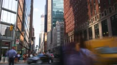 Uptown manhattan traffic street 4k time lapse from new york Stock Footage