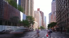 Day light manhattan street traffic 4k time lapse from new york Stock Footage