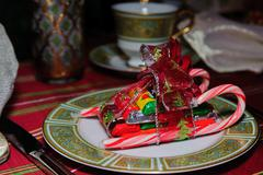 Chocolate and candy cane sleigh Kuvituskuvat