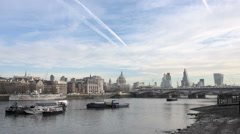 The City of London skyline Stock Footage