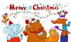 Seasonal greetings card - stock illustration