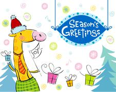 Seasonal greetings - stock illustration