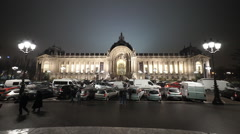 Stock Video Footage of Wide angle shot of small palace called Petit Palais exhibition hall