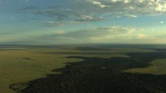 Aerial Idaho USA lava magma vegetation nature - stock footage