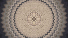 Retro style zigzag circle kaleidoscopic pattern. - stock footage