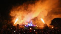 Firework Show Of Hong Kong Disneyland 2014 Stock Footage