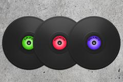 Vinyl disk Stock Illustration