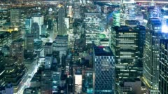 Night life of new york city 4k time lapse from new york city Stock Footage