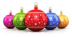 Color Christmas balls - stock illustration