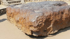 Hoba meteorite namibia Stock Footage