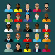 Men appearance icons. people flat icons collection Stock Illustration
