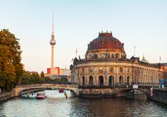 Berlin cityscape early in the evening Stock Photos
