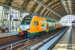 alexanderplatz subway station in berlin, germany - stock photo