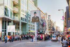 Stock Photo of checkpoint charlie touristic attraction in berlin