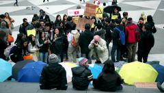 Children s are supporting the Hong Kong's protesters Stock Footage