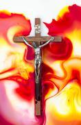salvation crucifix - stock photo