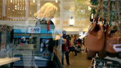 Woman shopping a bag Stock Footage