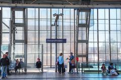 Alexanderplatz subway station in berlin, germany Stock Photos