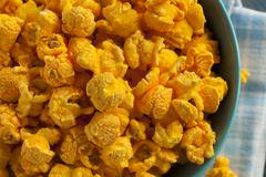 homemade cheddar cheese popcorn - stock photo