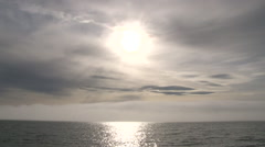 Sun Over Foggy Water Stock Footage