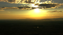 Aerials USA Idaho sunset sky clouds travel scenic vacation Stock Footage