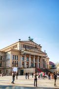 concert hall (konzerthaus) at gendarmenmarkt square in berlin - stock photo