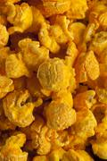 Homemade cheddar cheese popcorn Stock Photos