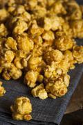 Stock Photo of homemade crunchy caramel popcorn