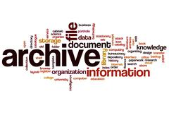 Archive word cloud Stock Illustration