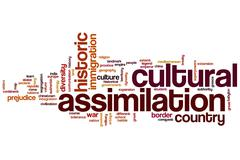Stock Illustration of cultural assimilation word cloud