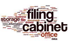 Filing cabinet word cloud Stock Illustration