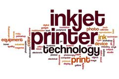 Inkjet printer word cloud Stock Illustration