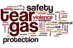 Stock Illustration of tear gas word cloud