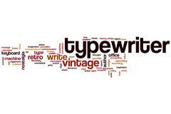 Typewriter word cloud Stock Illustration