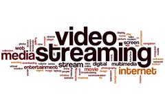 video streaming word cloud - stock illustration