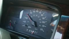 Limousine speedometer, close up - stock footage