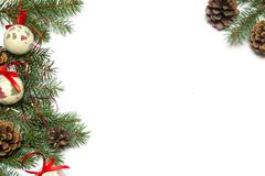 Christmas tree ornament background. Stock Photos